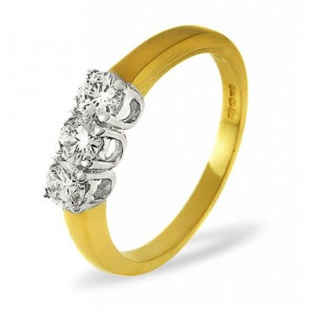 18K Gold 0.50ct H/si Diamond Ring, DR01-50HSY